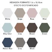 HEXAGONS DIFFERENT COLOURS - AZUL NAVAL
