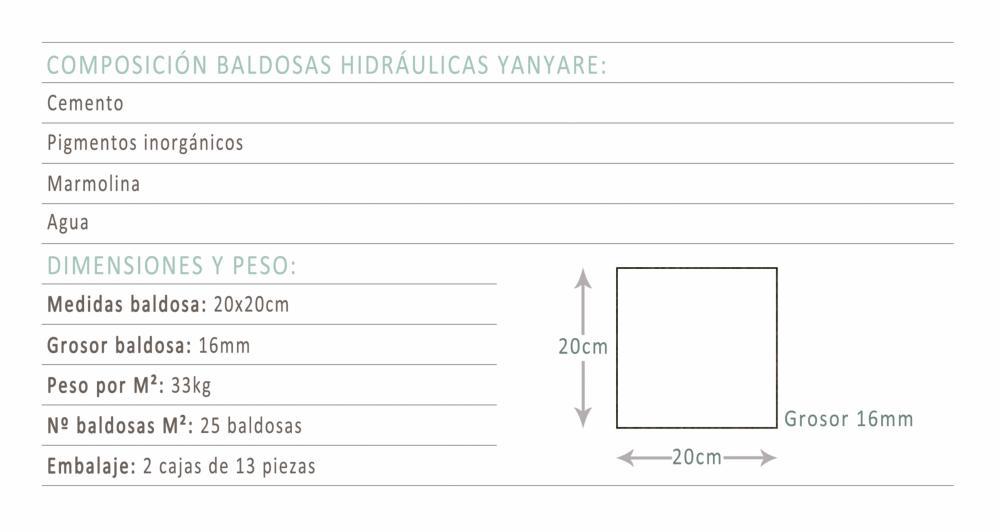 Mosaico hidr ulico yanyare calidad al mejor precio for Medidas de baldosas